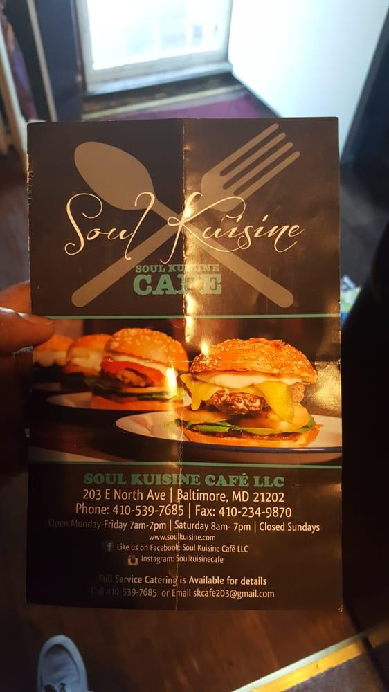 Soul Kuisine Cafe: 203 E North Ave, Baltimore, MD