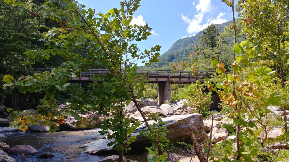 River Walk: Two Entrances From Main St, Chimney Rock, NC