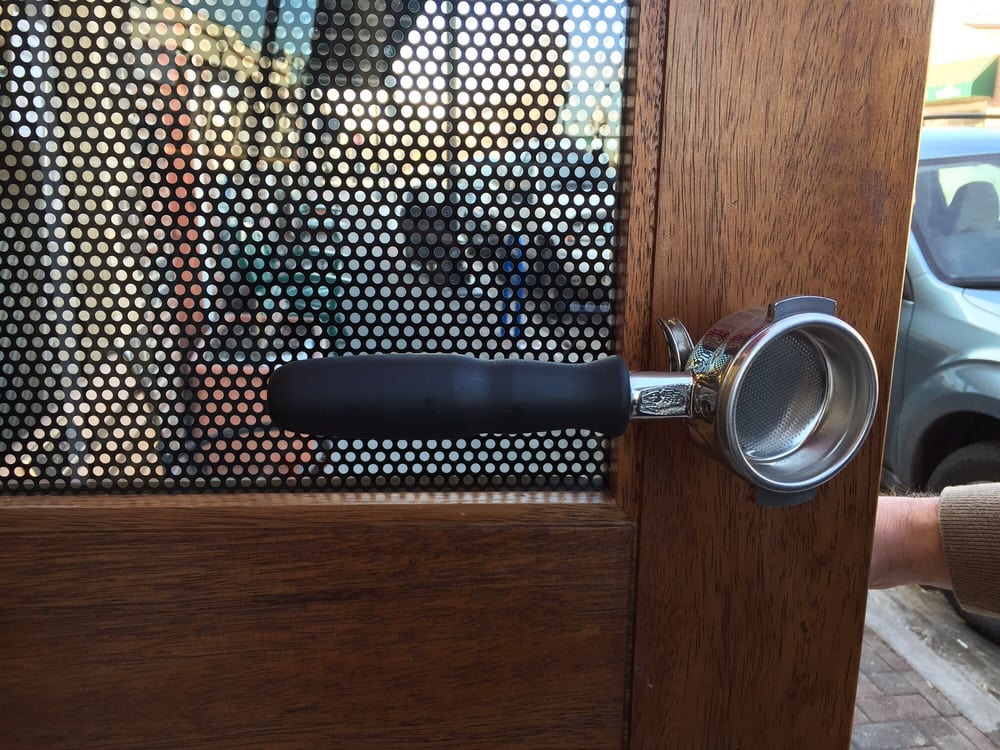 Photo of Coda Coffee - Edgewater - Denver CO United States. Best door & Best door handle ever for a coffee shop!!! #codacoffee - Yelp