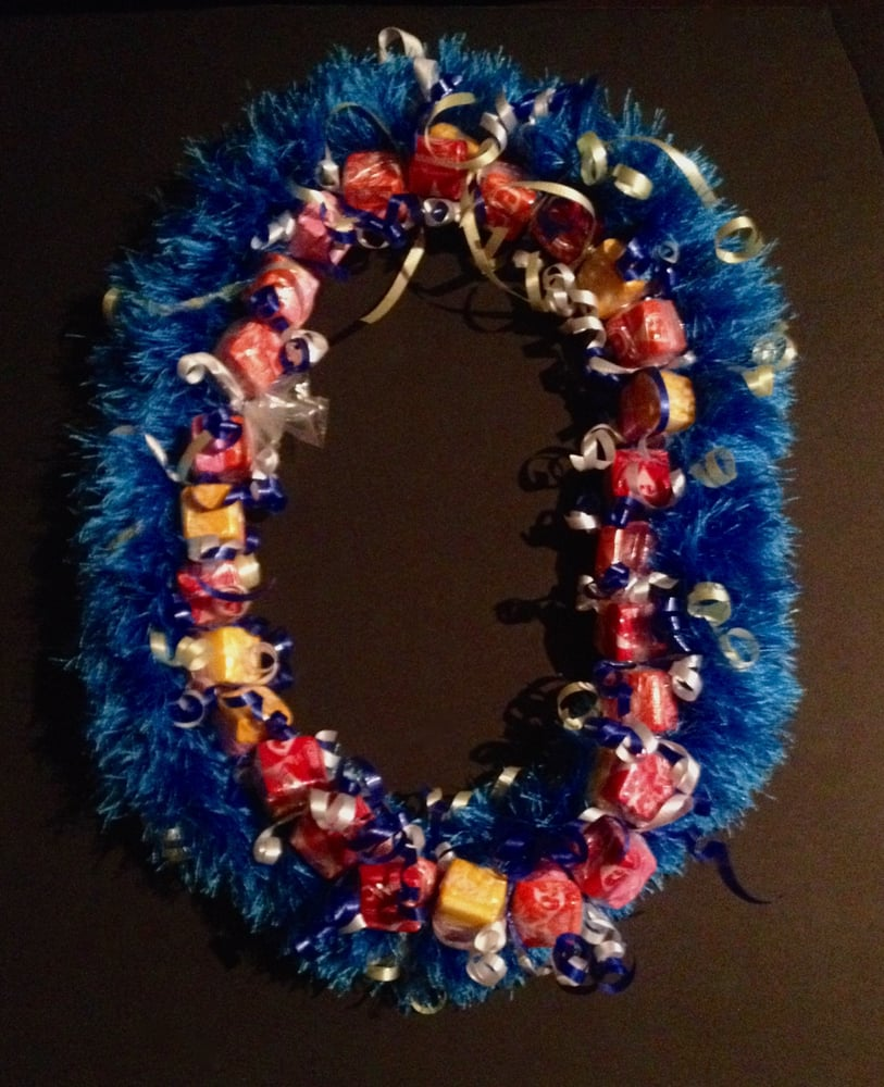 Double lei  Candy Lei made with Starburst  Handmade yarn lei  - Yelp