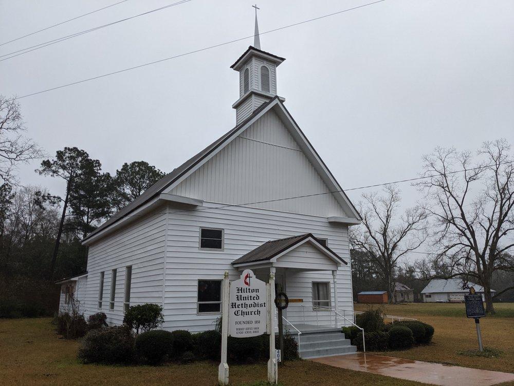 Hilton United Methodist Church: GA Hwy 62 N Old River Rd, Blakely, GA