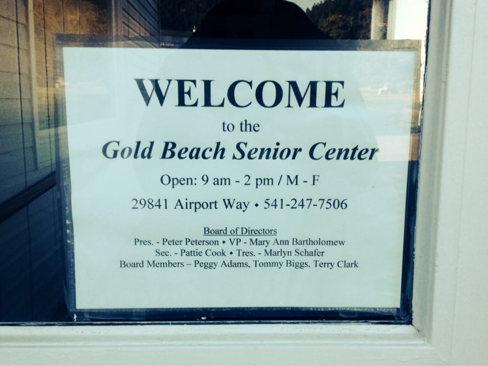 Gold Beach Senior Center: 29841 Airport Way, Gold Beach, OR