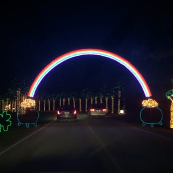 photo of james island festival of lights charleston sc united states rainbow
