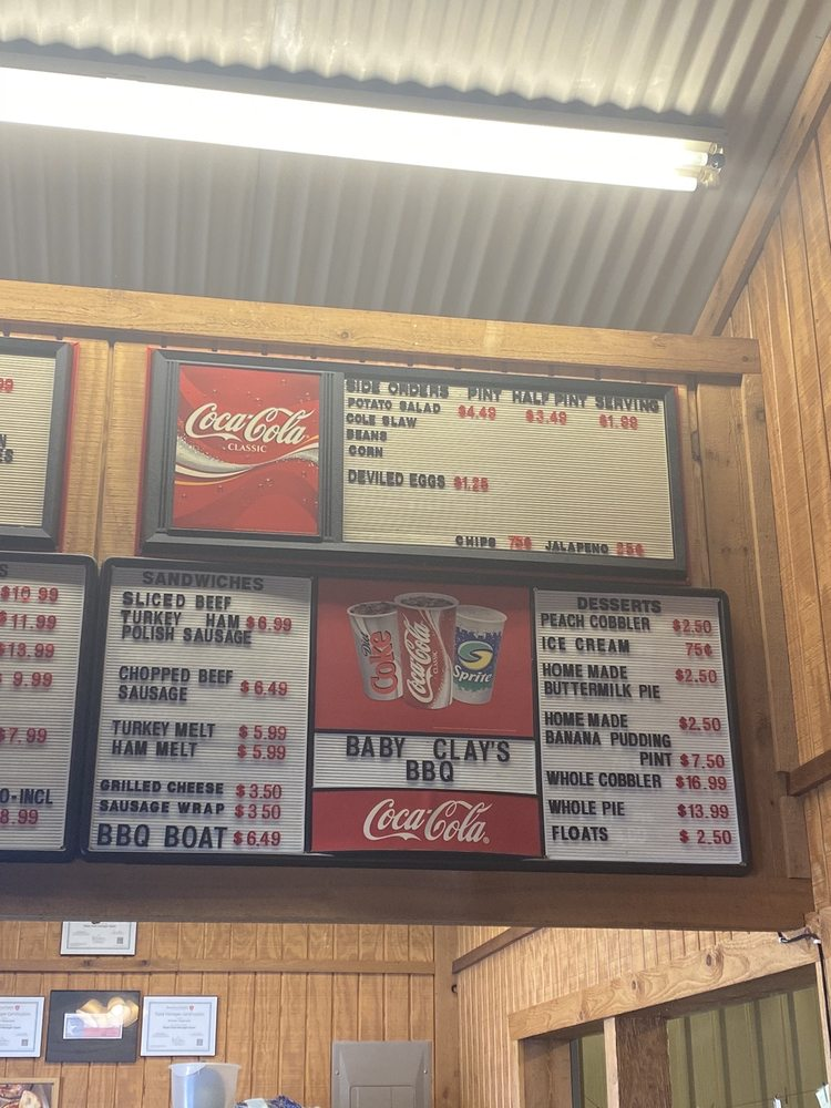 Baby Clay's Barbecue: 4592 Hwy 14 N, Mexia, TX