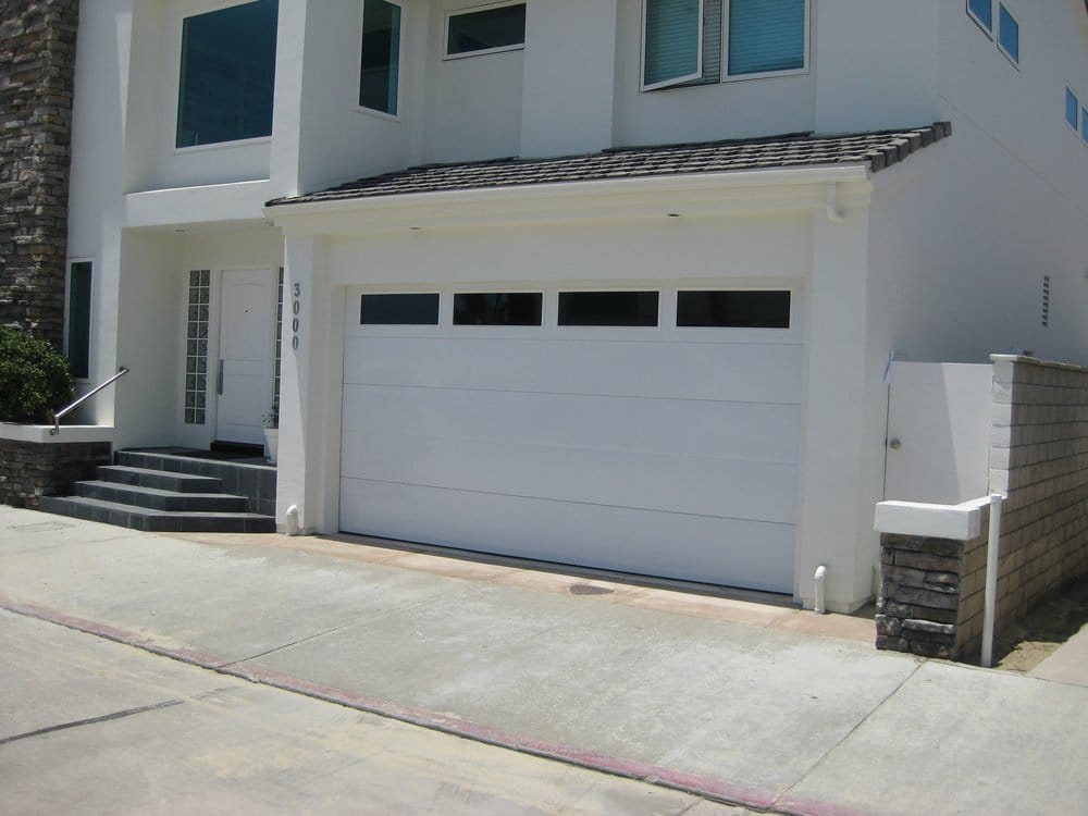 Contemporary Garage Door In Newport Beach Flush Smooth
