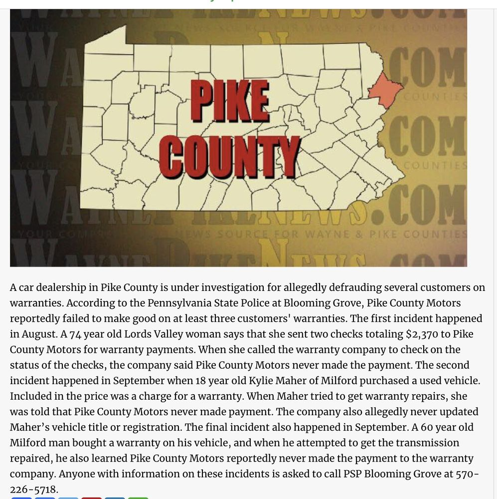 Pike County Motors: 864 Milford Rd, Dingmans Ferry, PA