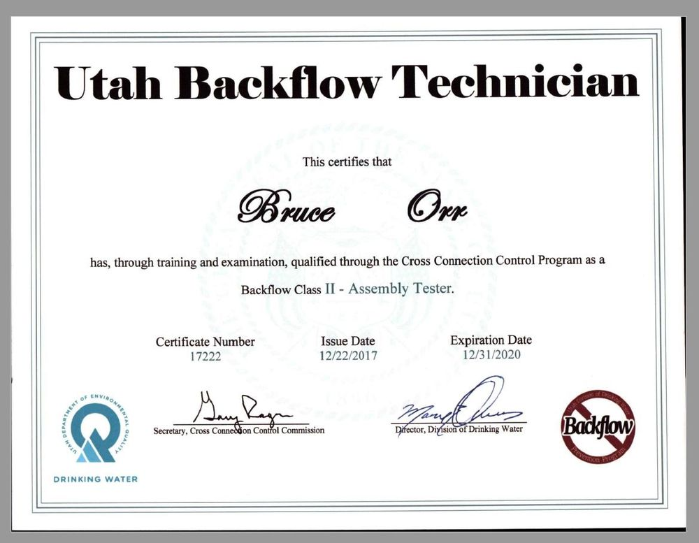 Backflow Assembly Testing Certified Yelp