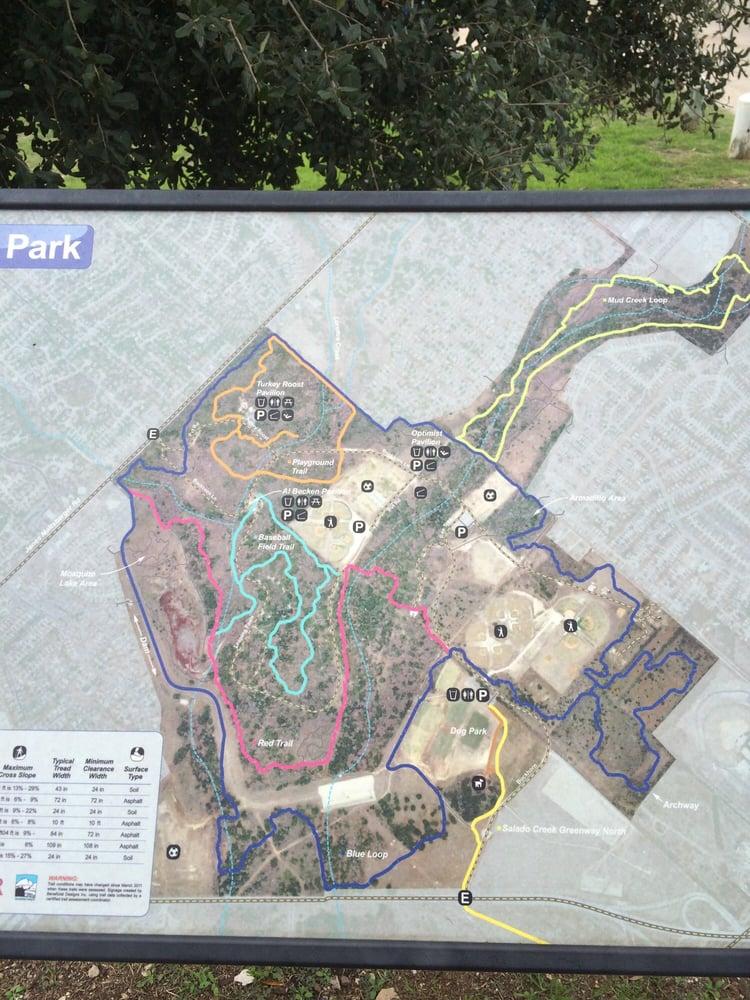 Mcallister Park Map Map of park   Yelp Mcallister Park Map