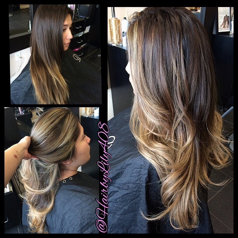 American Tailoring Foils And Balayage Combo Ombre Balayage Beige