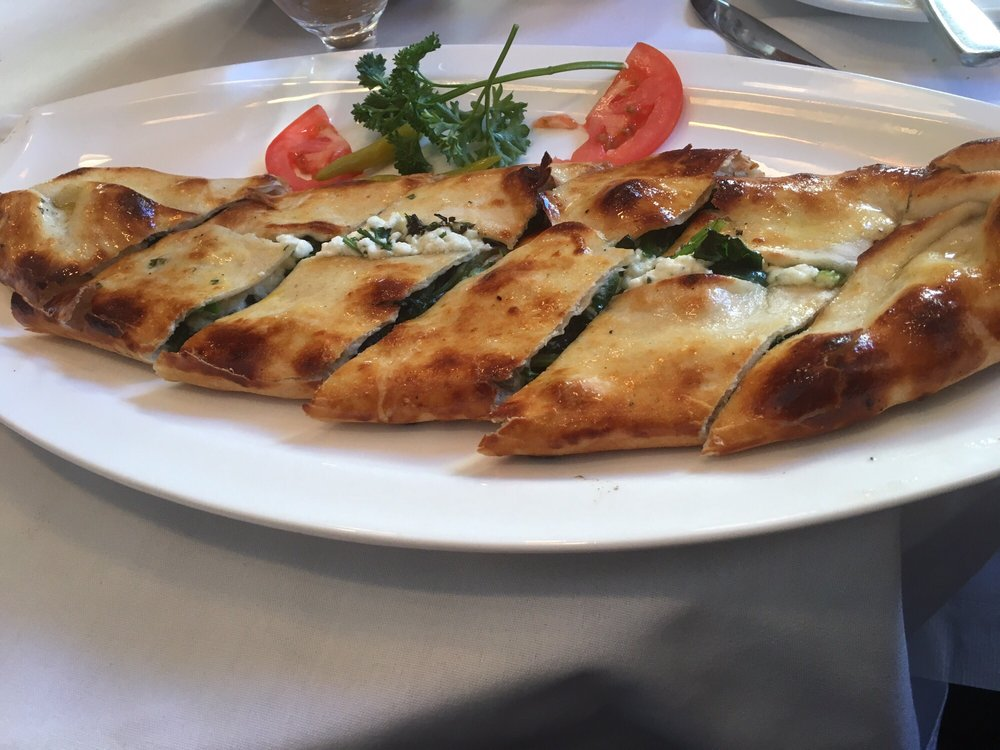 Spinach feta pide yelp for Authentic turkish cuisine