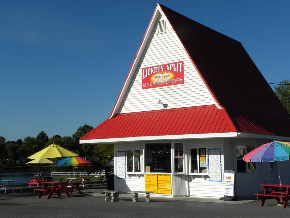 Lickety Split Ice Cream Shoppe: 215 Water St, Dexter, NY