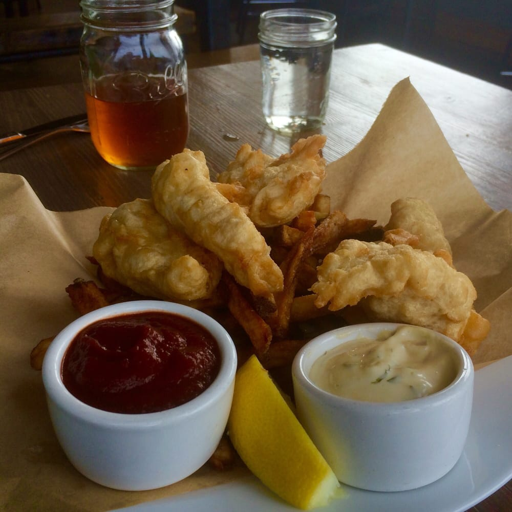 Fish chips hand cut fries very good better with the for Pickled fish long beach wa
