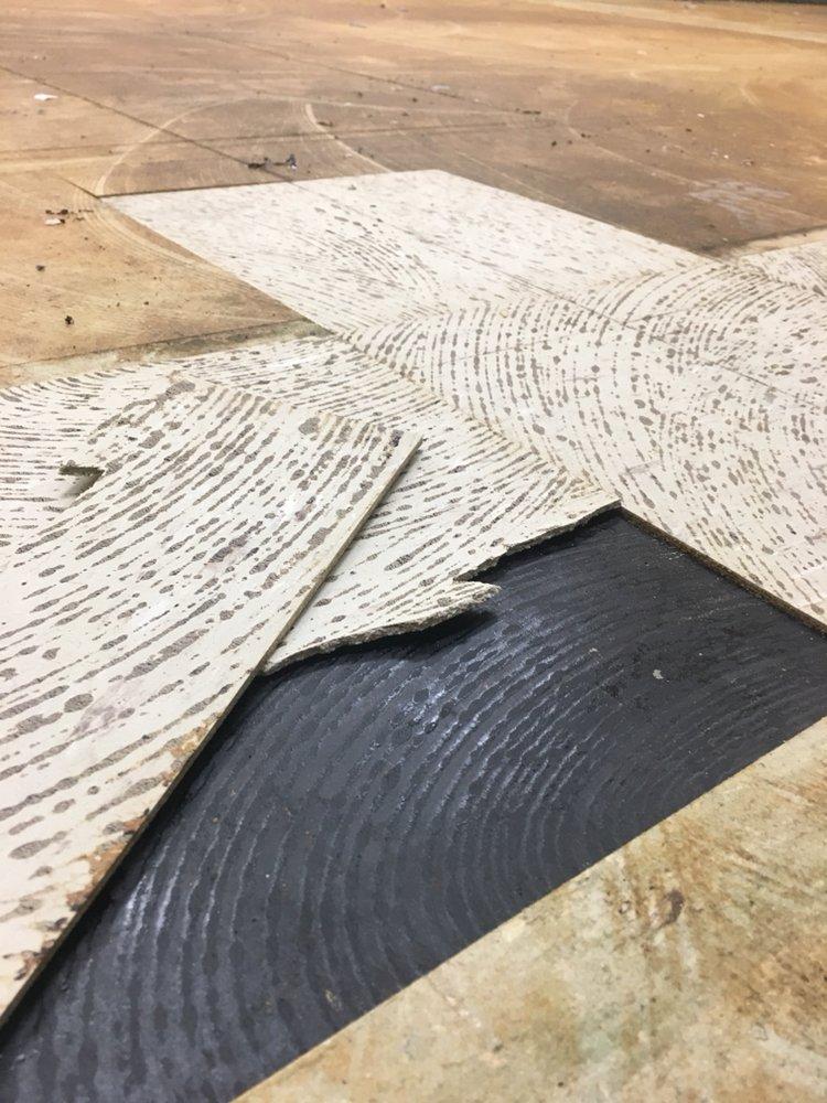 Run into vinyl flooring or black mastic call us to get it tested photo of magnolia environmental loma linda ca united states run into vinyl solutioingenieria Gallery