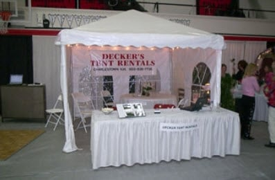 Decker's Tent Rental: 220 Scenic Hill Rd, Charlestown, NH
