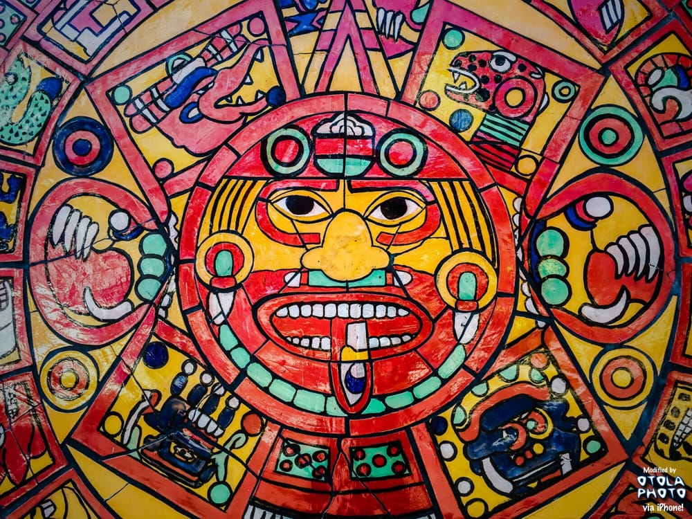 Art Gallery Calendar Los Angeles : Aztec calendar mural on s hewitt st and e fourth place