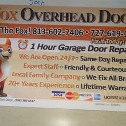 Photo Of Fox Overhead Door   Tampa, FL, United States. Ad From Val