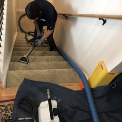 Photo of MSS Cleaning - Denver, CO, United States. David cleaning some stairs