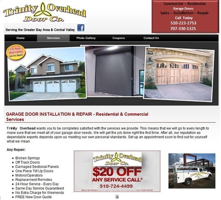 Trinity Overhead Door Company Garage Door Services El Cerrito