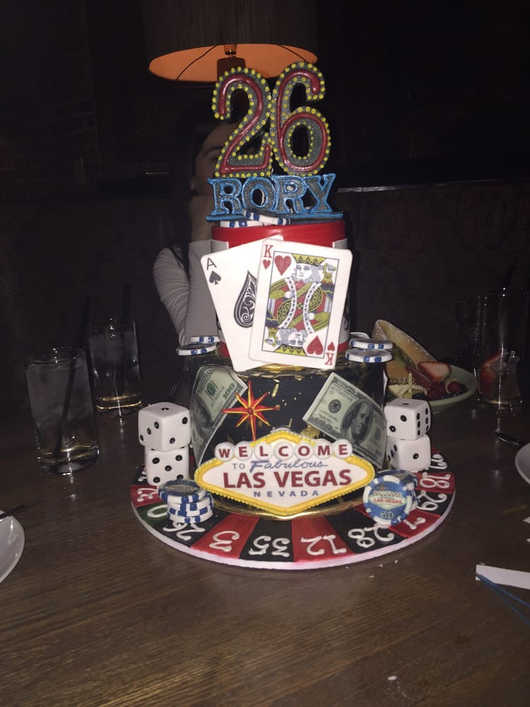 Vegas Themed Surprise Birthday Cake That Was Delivered To Our Dinner