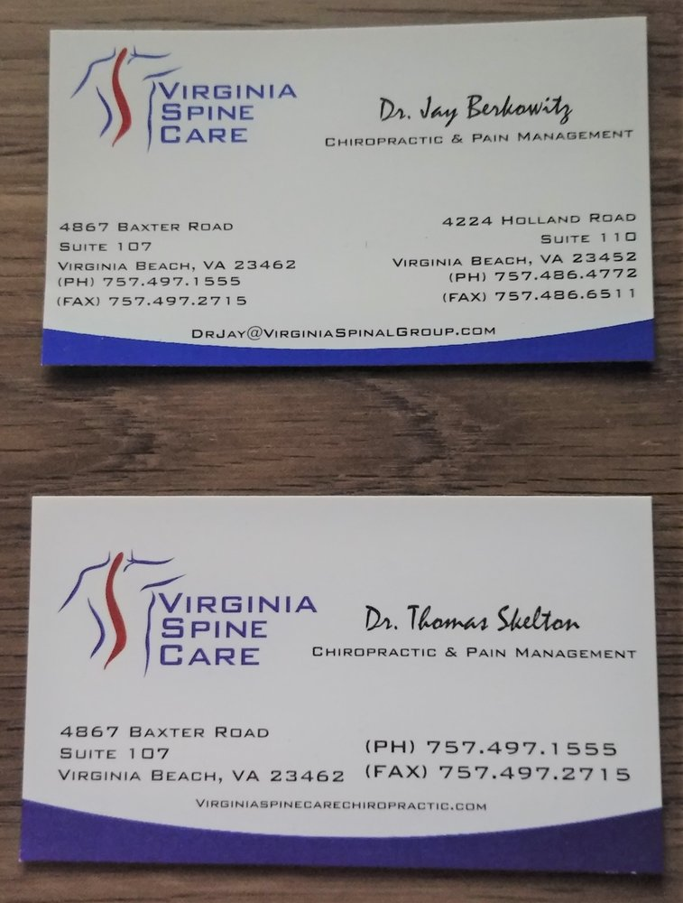 These are the business cards for Dr. Jay Berkowitz and Dr. Thomas ...