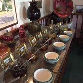 Photo of La Casa Rosa - San Juan Bautista, CA, United States. Samples of the jams and old Victrola.