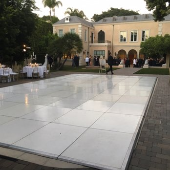 White Dance floor over swimming pool for a wedding In ...