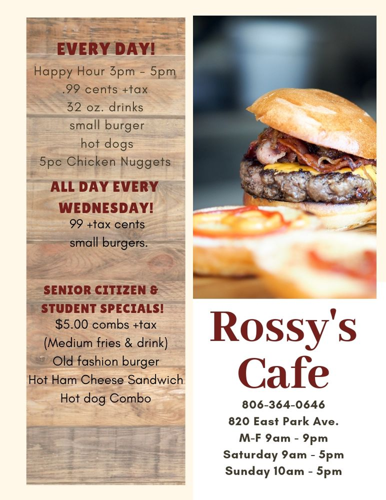 Rossy's Cafe: 820 East Park Ave, Hereford, TX