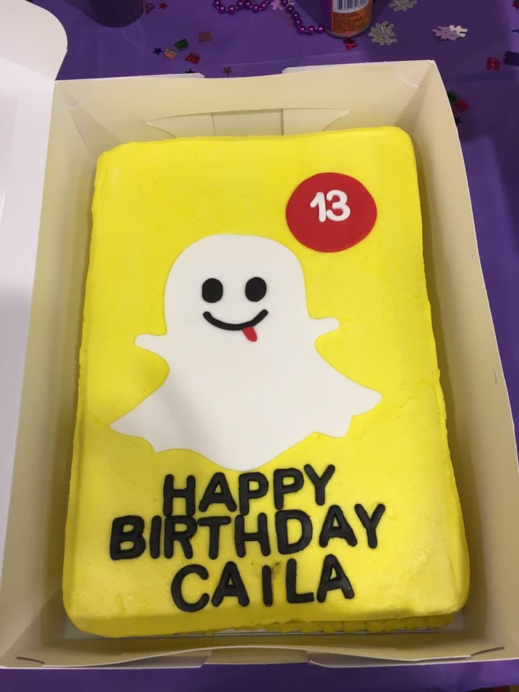snapchat cake from my daughter s 13th birthday party yelp