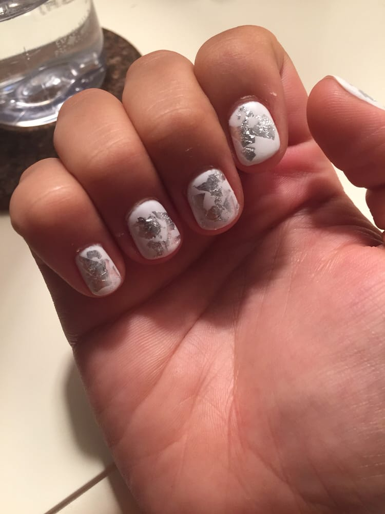 Photo Of The Nail Lab Sarasota Fl United States White Nails With