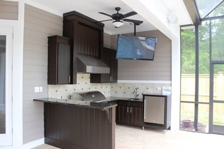 Black Pearl Granite Counter For Outdoor Kitchen By Jackson