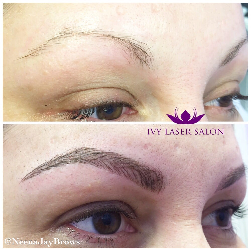 Microblading Semi Permanent Eyebrow Tattoo In Hair Like