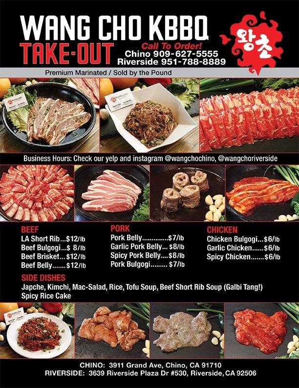 Food from Wang Cho Korean BBQ