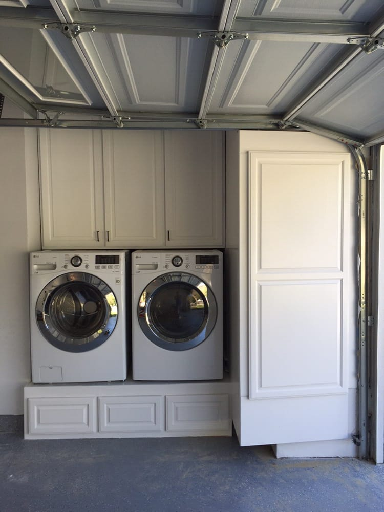 Above And Below Washer Dryer Storage Units Built To Fit
