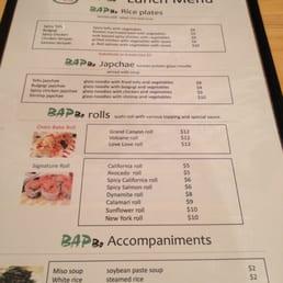Bapbo Restaurant Menu