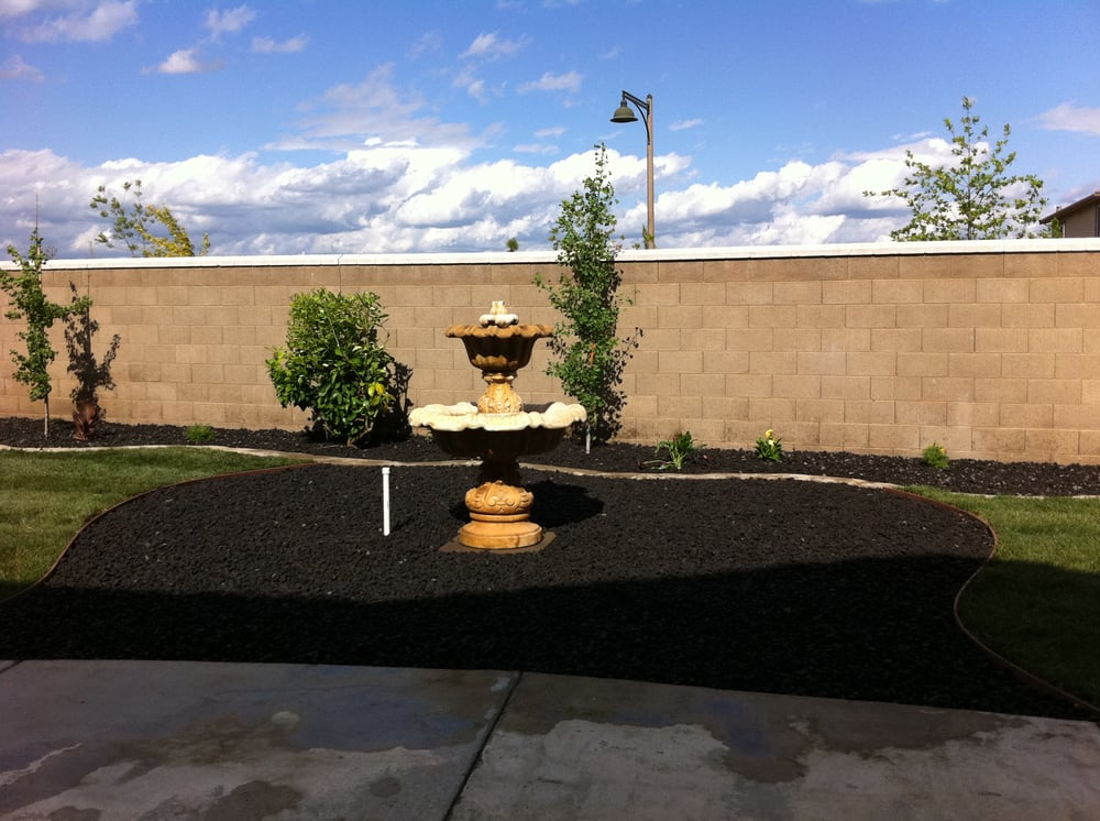 Black lava rock is a long term ground cover yelp for Landscaping rocks sacramento