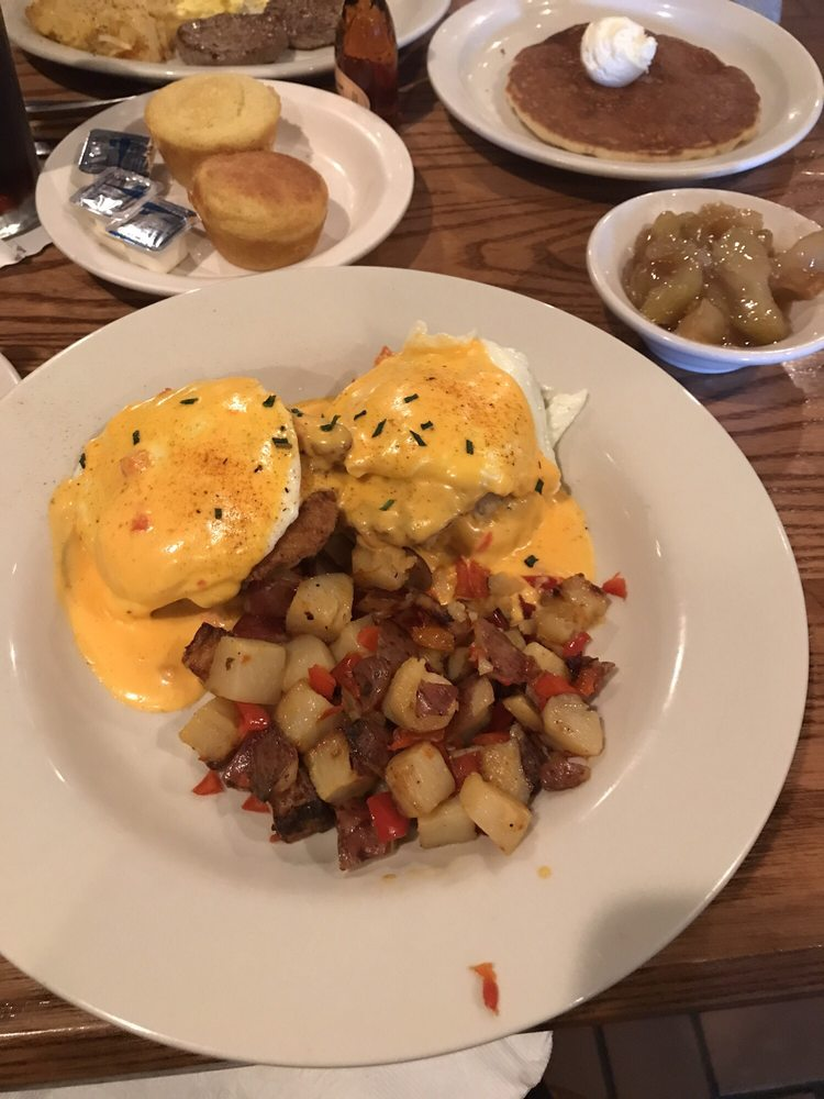 Fried Chicken Eggs Benedict!!! With Sweet Pepper n Red Skin Potato