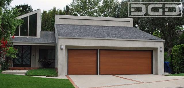 Custom Wood Garage Doors In A Horizontal Slat Design