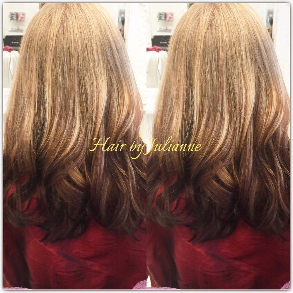 Reverse Ombre Hair Light On Top Dark On Bottom Of Hair Yelp