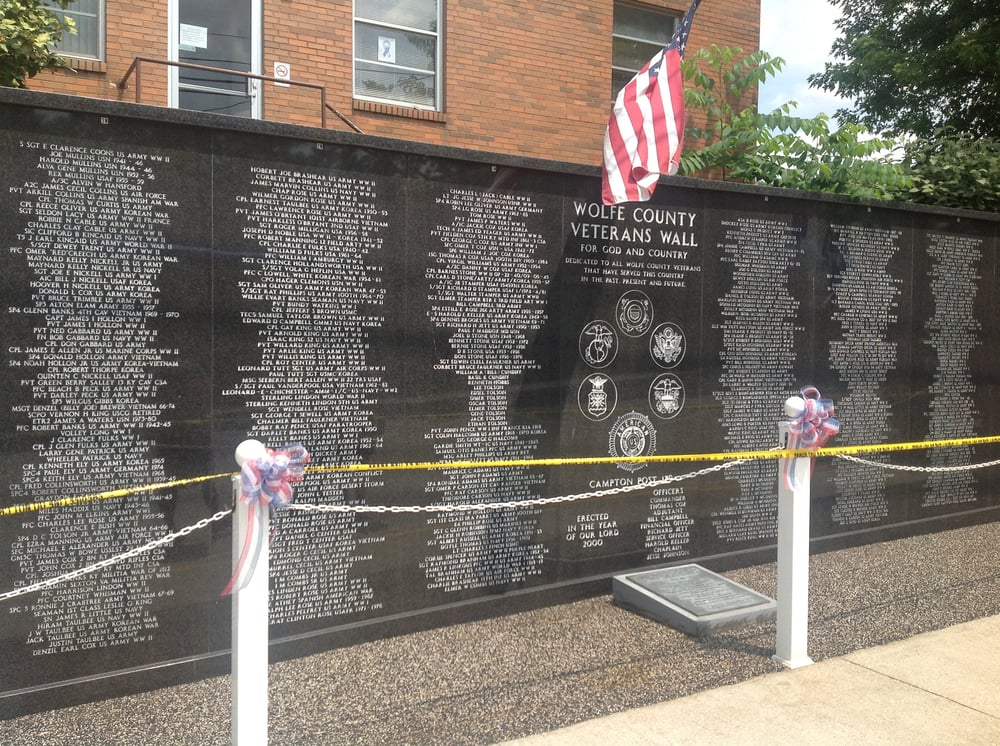 Wolfe County Veterans Wall: Court St, Campton, KY
