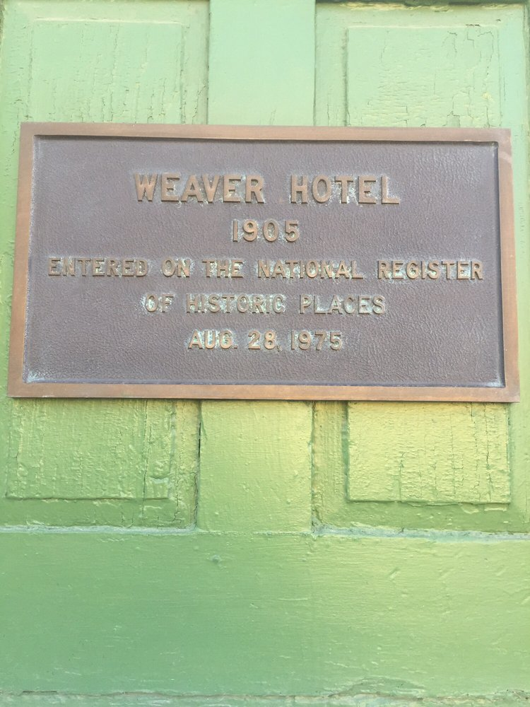 Weaver Hotel: 126 S Kansas Ave, Waterville, KS