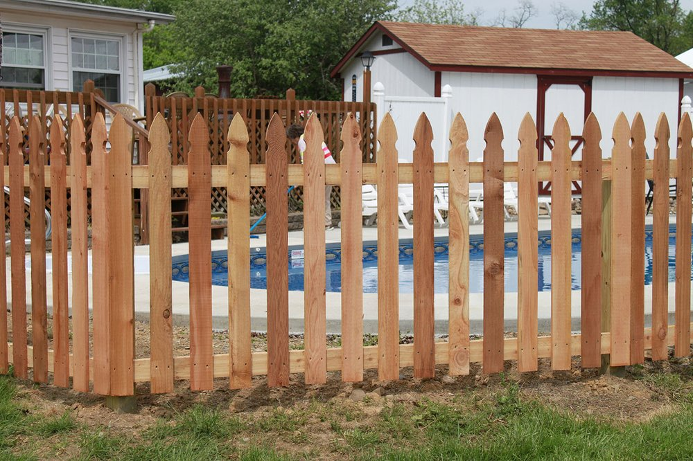 Beautiful Picket Fence Surrounding A Family Pool In Denton Tx Yelp