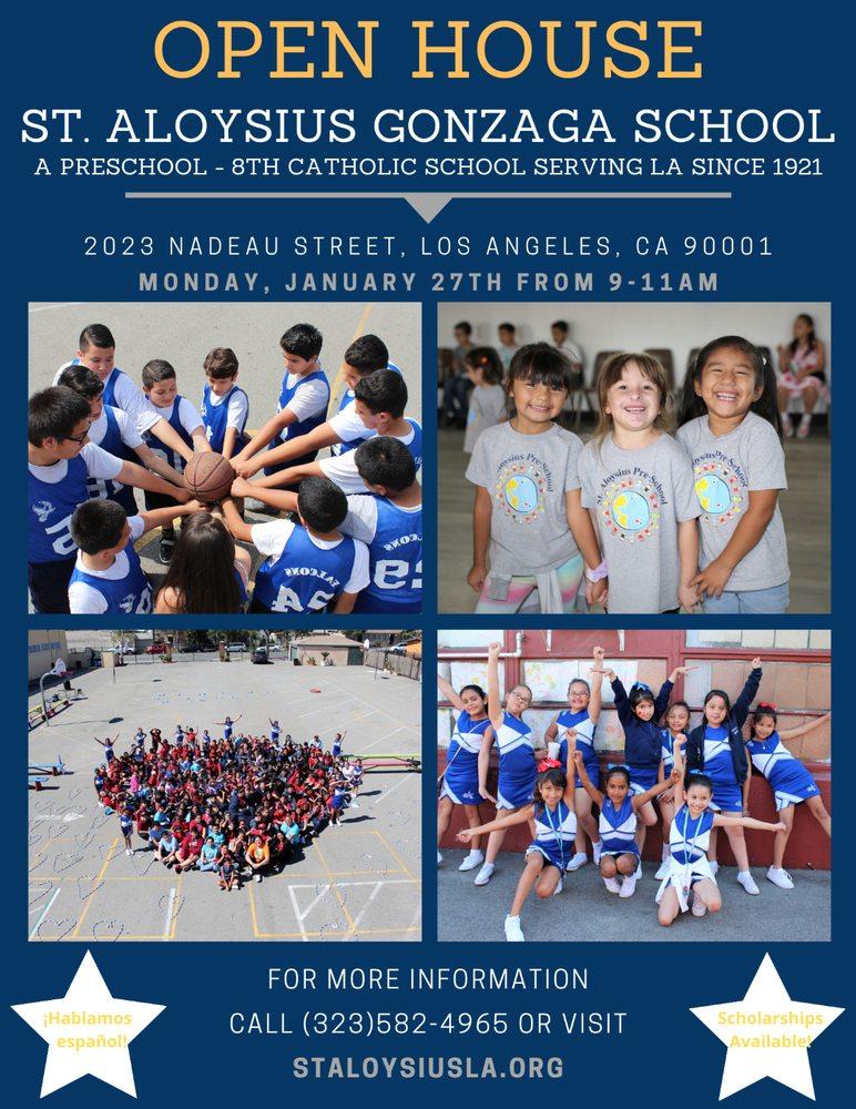 St. Aloysius Gonzaga School: 2023 Nadeau St, Los Angeles, CA