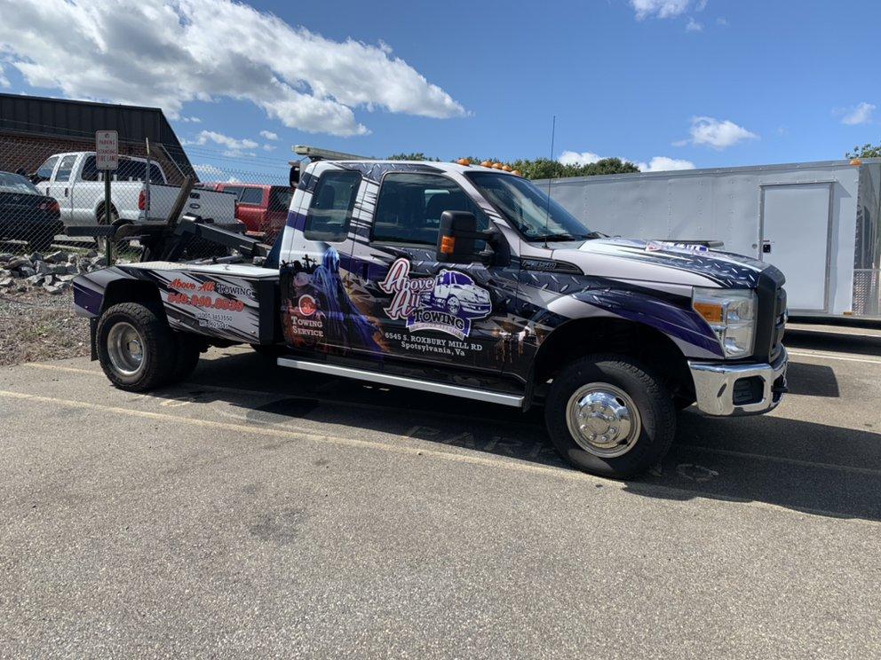 Above All Towing: 6545 S Roxbury Mill Rd, Spotsylvania, VA