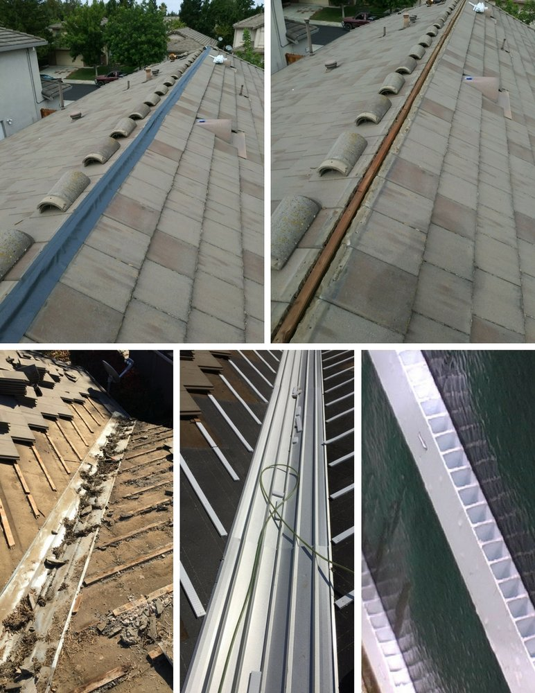 Before And After Picture Of Some Of Our Roof Repairs On