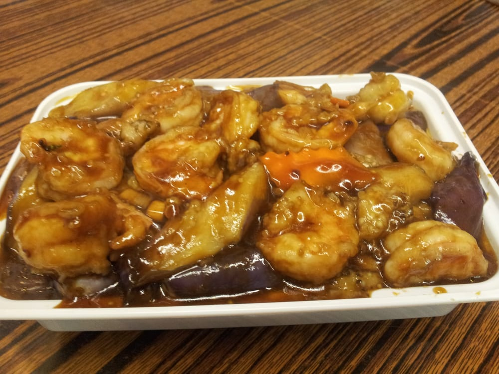 Shrimp With Chinese Eggplant In Garlic Sauce Yelp