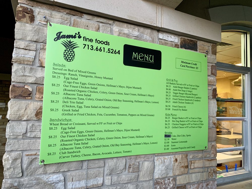 Jami's Fine Foods: 4130 Byron St, Houston, TX
