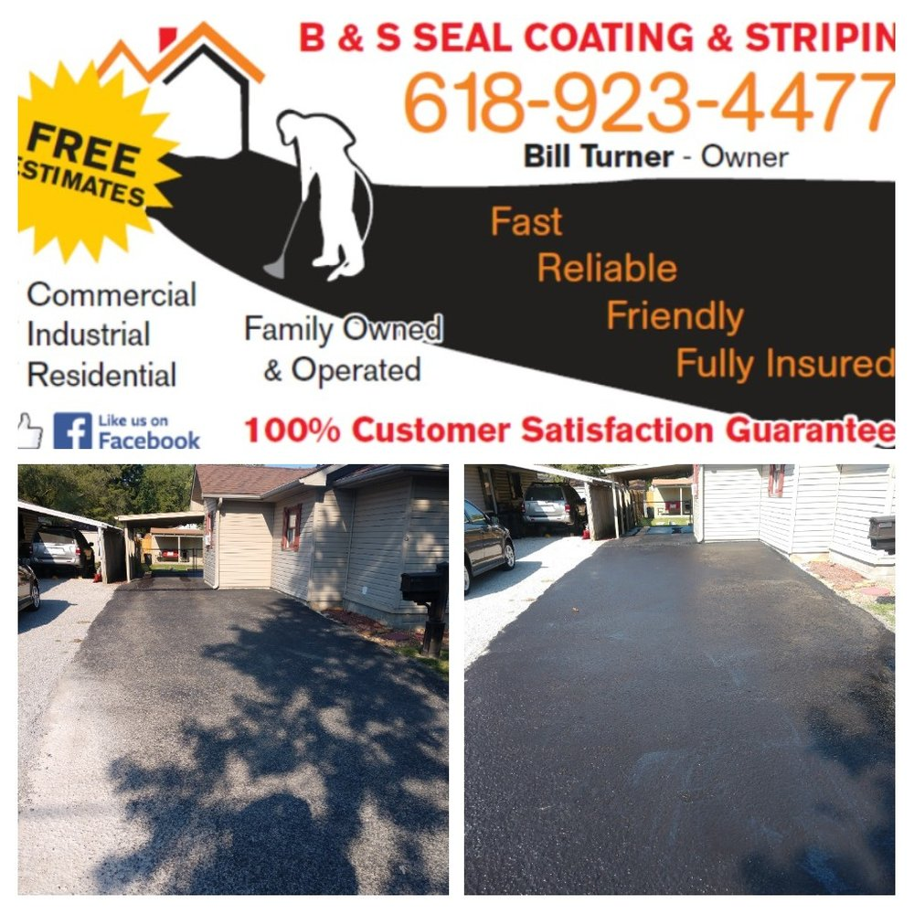 B & S Seal Coating & Striping: 216 W 7th St, West Frankfort, IL