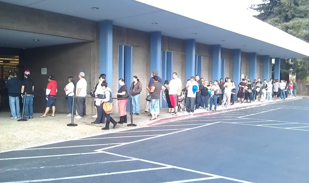 Thats a long line at the dmv yelp for Department of motor vehicles near my location