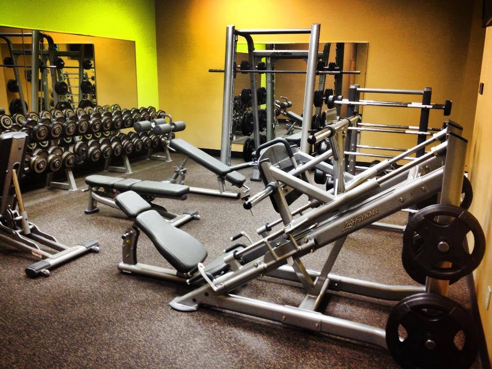 Hammer Strength Plate Loaded Training Machines in the free