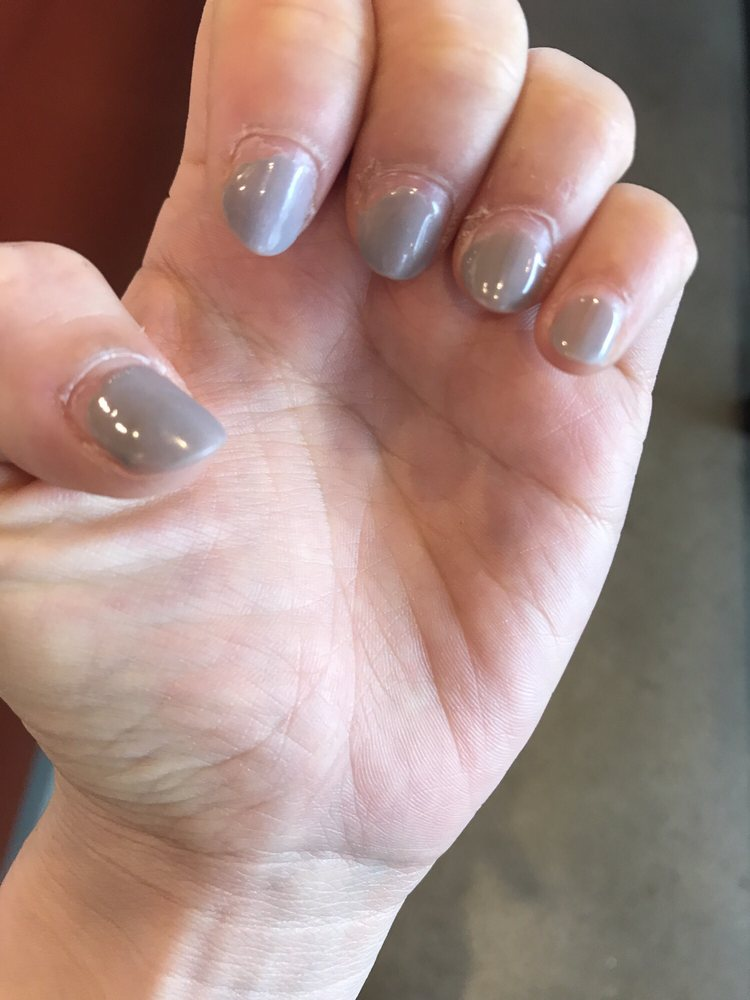 My nails after one week. It lifted and peeled off. WTF - Yelp